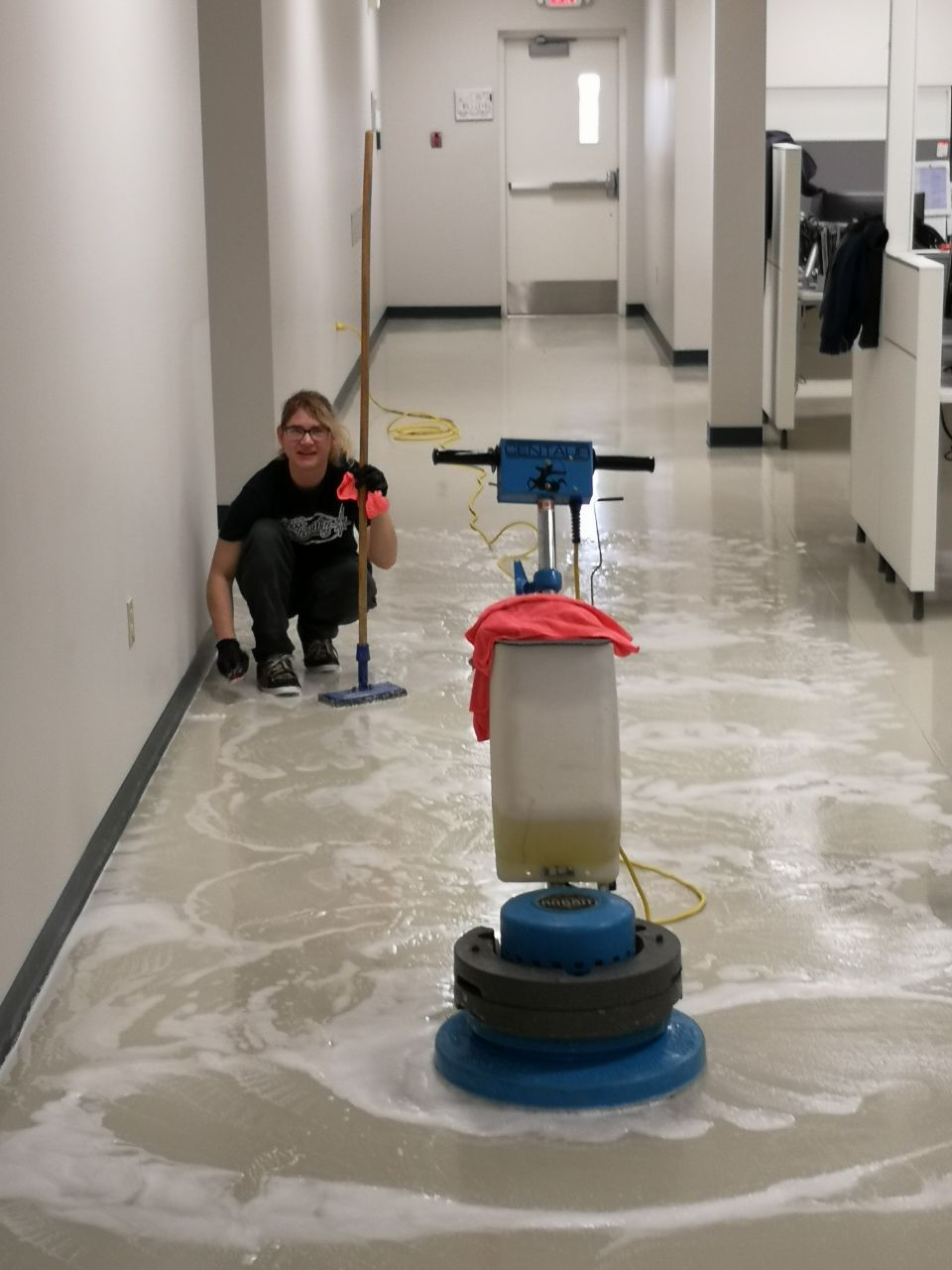 commercial floor cleaning machine